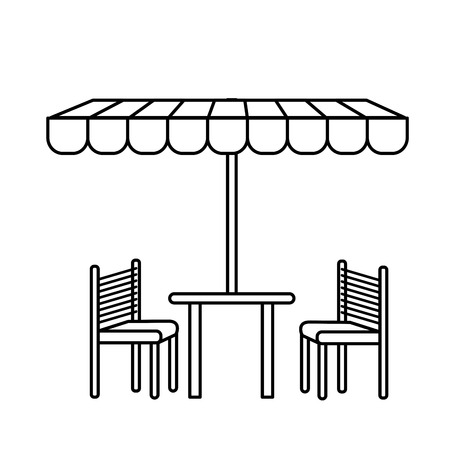 tent city: tent table chairs icon vector illustration graphic design