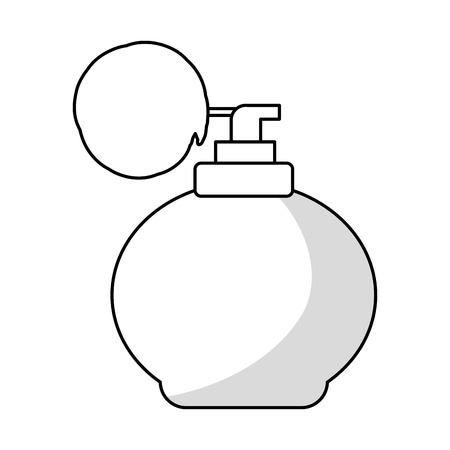 perfumery concept: retro fragrance bottle icon vector illustration graphic design