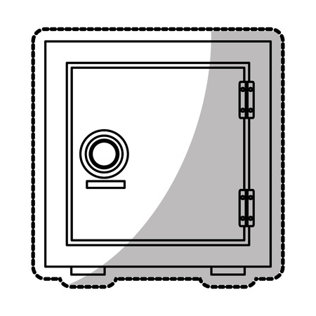 strongbox: Strongbox icon. Money financial item commerce market and buy theme. Isolated design. Vector illustration