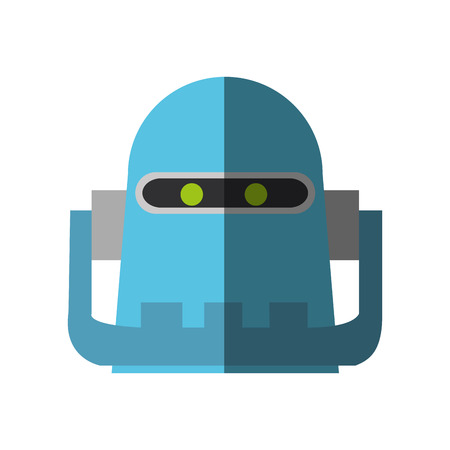 cybernetics: Robot cartoon icon. Robotic technology machine cyborg and science theme. Isolated design. Vector illustration