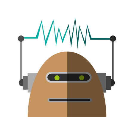 cybernetics: Robot cartoon icon. Robotic technology cyborg and science theme. Isolated design. Vector illustration
