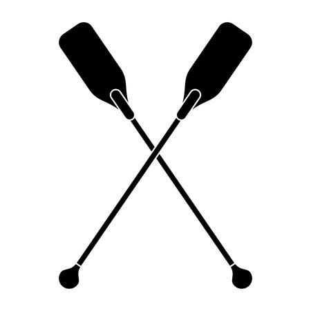 paddles: pictogram paddles crossed boat tool vector illustration eps 10 Illustration
