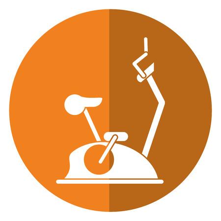static bike: bike static machine fitness gym shadow vector illustration eps 10