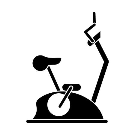 static bike: pictogram bike static machine fitness gym vector illustration eps 10