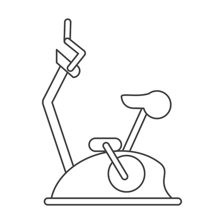 weight machine: outline bike static machine fitness gym vector illustration eps 10