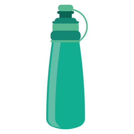 hydration: bottle water hydration fitness gym vector illustration eps 10