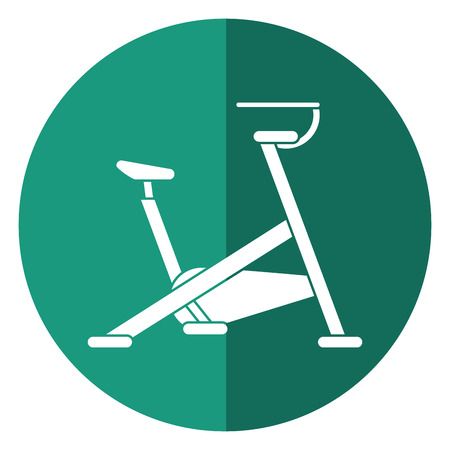 stationary bicycle machine gym sport shadow vector illustration eps 10