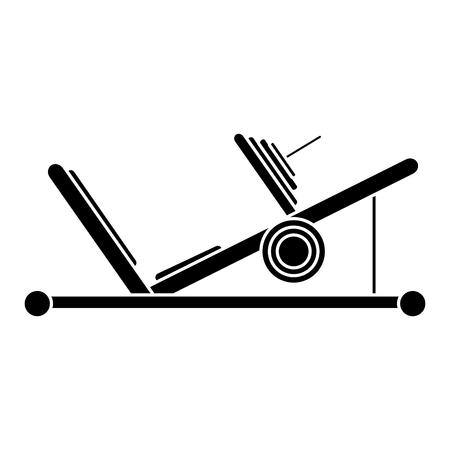 silhouette press legs sport machine gym design vector illustration eps 10