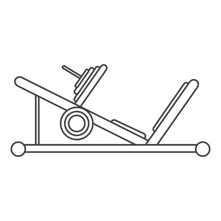 outline press legs sport machine gym design vector illustration eps 10