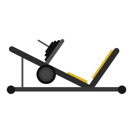 racecourse: press legs sport machine gym design vector illustration eps 10
