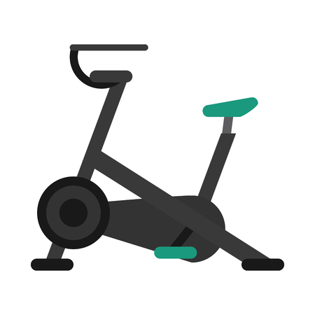 stationary bicycle: stationary bicycle machine gym sport vector illustration eps 10