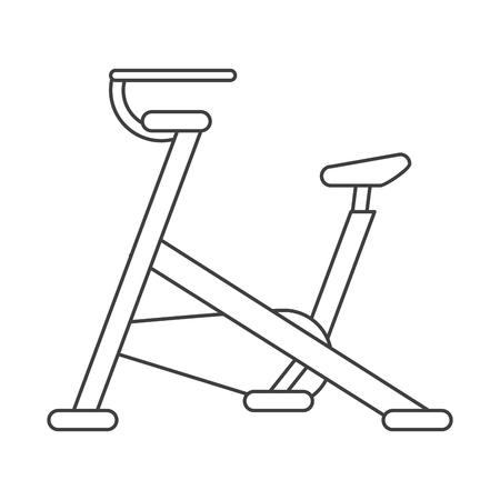 stationary bicycle: outline stationary bicycle machine gym sport vector illustration eps 10 Illustration