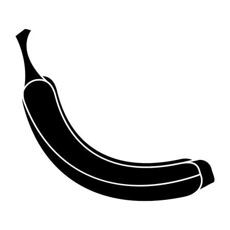 appetizing: banana appetizing fruit nature silhouette vector illustration