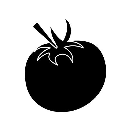 pictogram tomato juicy vegetable icon vector illustration