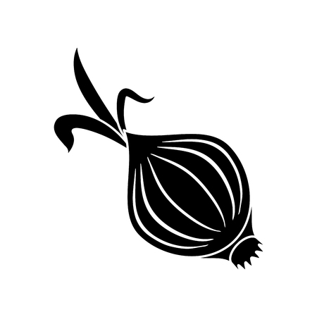 pictogram onion vegetable nutrition sprout icon vector illustration
