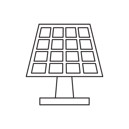 clean energy: pictograh solar panel energy ecological clean vector illustration eps 10