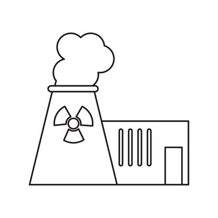 nuclear vector: pictograh nuclear power plant tower energy vector illustration eps 10