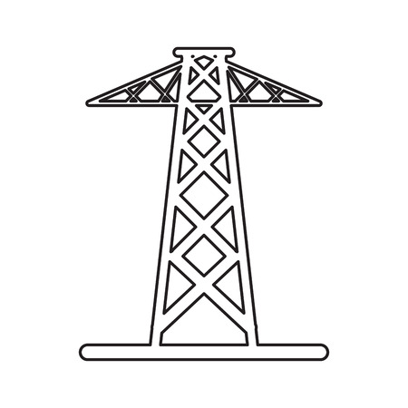 electrical tower: pictogram electrical tower transmission energy power vector illustration eps 10