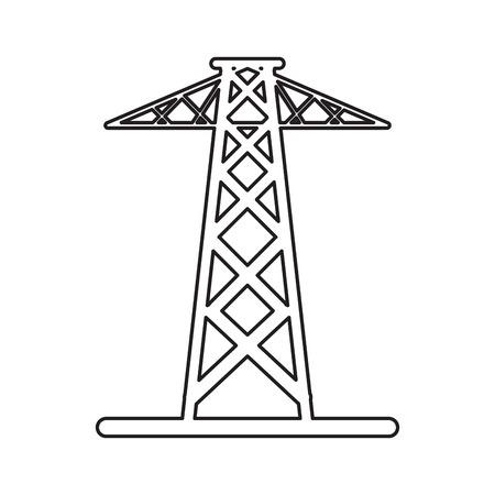 telephone pole: pictogram electrical tower transmission energy power vector illustration eps 10