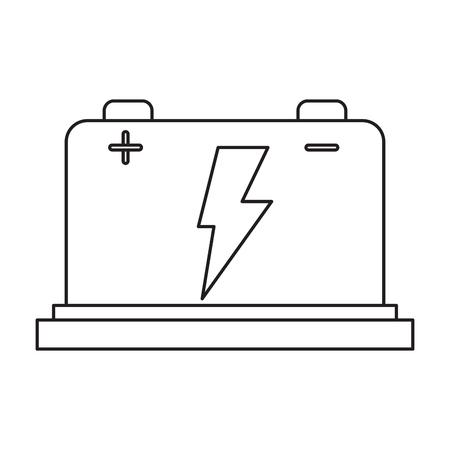 powerlines: car battery high voltage mechanic pictogram vector illustration eps 10 Illustration