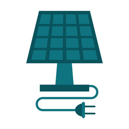clean energy: solar panel energy ecological clean vector illustration eps 10