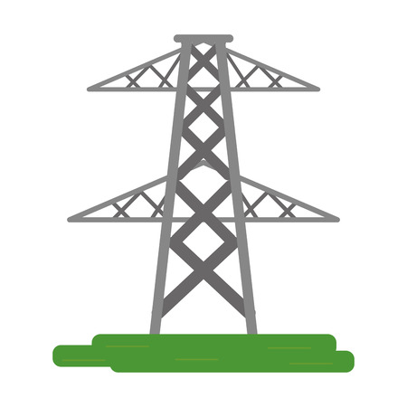 electrical tower: electrical tower transmission energy power vector illustration eps 10