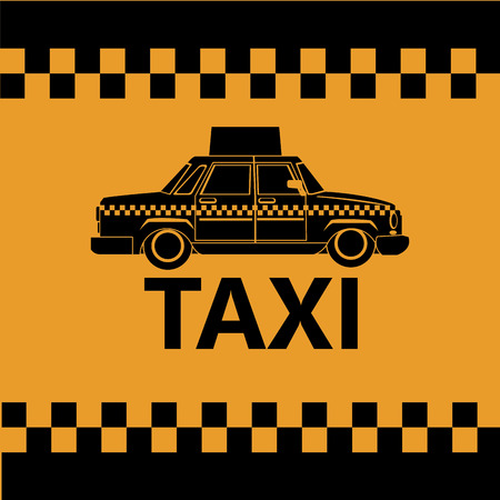 car side view: taxi car side view banner design vector illustration eps 10