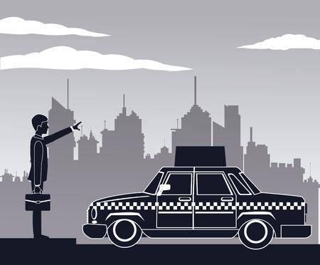 cab car passenger user service public pictograh vector illustration eps 10