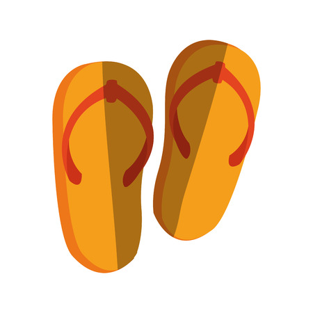 sandals isolated: Sandals icon. Shoes fashion footwear and beach theme. Isolated design. Vector illustration