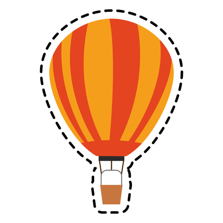 Hot air balloon icon. Transportation vehicle travel trip theme. Isolated design. Vector illustration