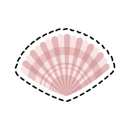 ecosistema: icono de la cáscara. Sea la fauna de los ecosistemas y la vida tema del océano. diseño aislado. ilustración vectorial Vectores