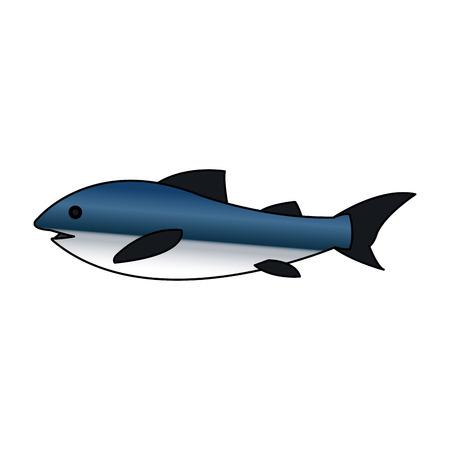 ecosistema: Icono de peces. Sea la fauna de los ecosistemas y la vida tema del océano. diseño aislado. ilustración vectorial