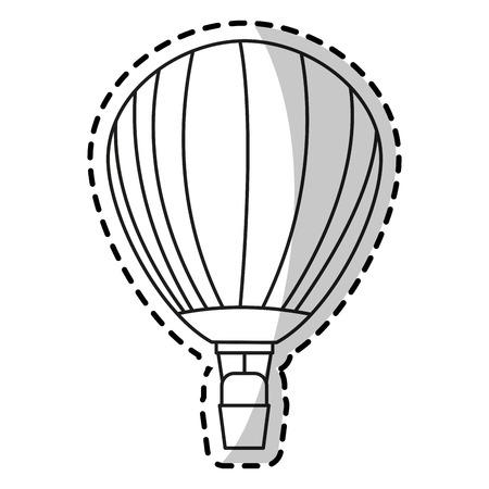 transporter: Hot air balloon icon. Transportation vehicle travel trip theme. Isolated design. Vector illustration