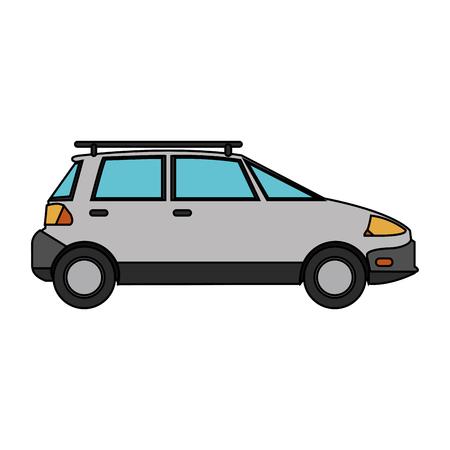 White car icon. Automobile transportation and vehicle theme. Isolated design. Vector illustration Illustration