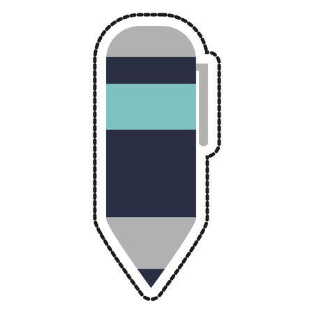 secretarial: Pen icon. Tool write office object and instrument theme. Isolated design. Vector illustration