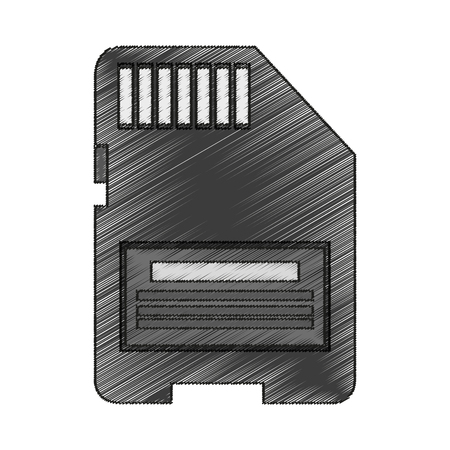 memory stick: Memory stick icon. Device gadget technology and electronic theme. Isolated design. Vector illustration