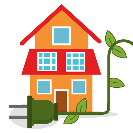 ecology house home energy vector illustration eps 10