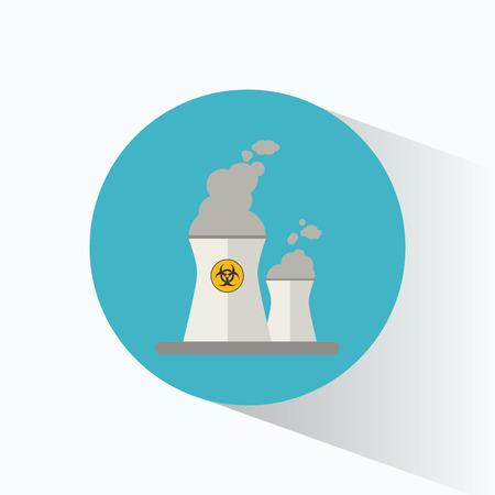 vector nuclear: nuclear power station energy sign vector illustration eps 10 Illustration
