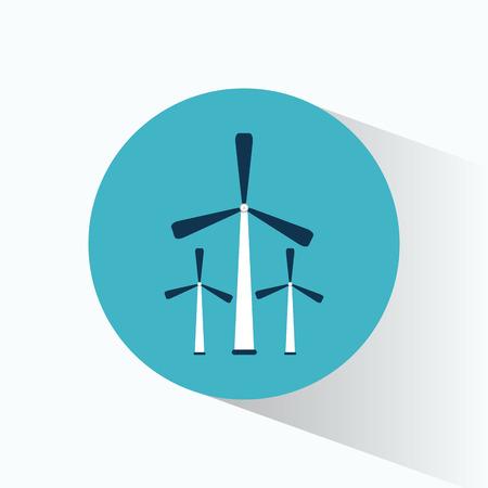 three wind energy generator production vector illustration eps 10
