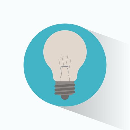 clean energy: clean energy bulb white shadow vector illustration eps 10 Illustration