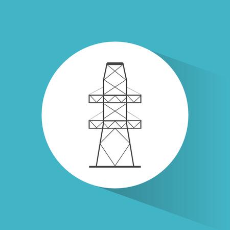 high voltage symbol: high voltage power electricity symbol vector illustration eps 10