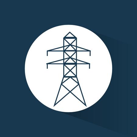 pylon: electrical pylon energy power blue background vector illustration eps 10