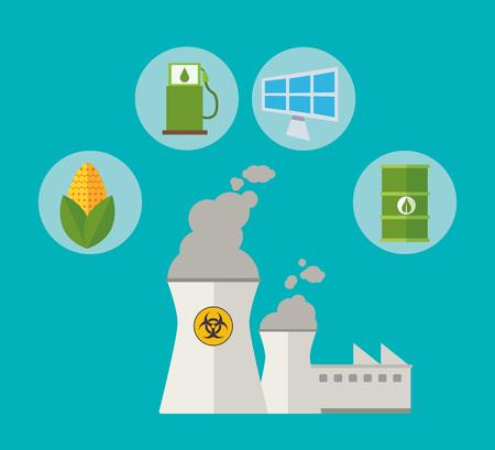 energy needs: nuclear power alternative resouces energy vector illustration eps 10 Illustration