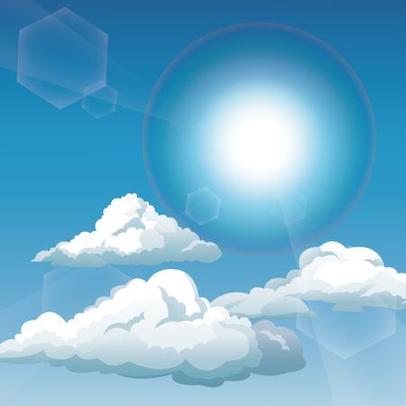 blue sky clouds sunny day vector illustration eps 10 Illustration