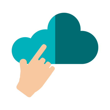 cloud network: Cloud computing icon. Storage technology virtual and network theme. Isolated design. Vector illustration