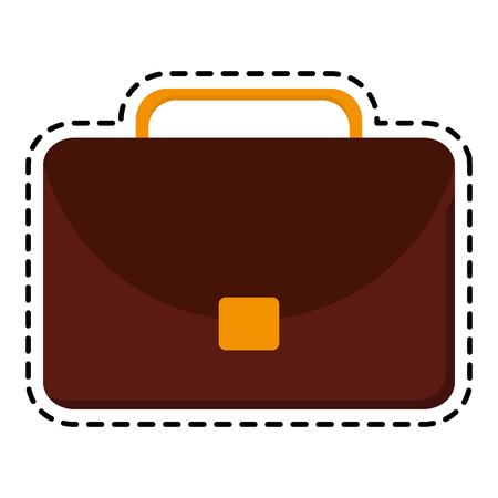 Suitcase icon. Business travel baggage and luggage theme. Isolated design. Vector illustration