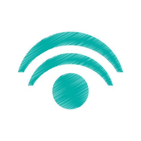 Wifi wave icon. Internet technology and communication theme. Isolated design. Vector illustration