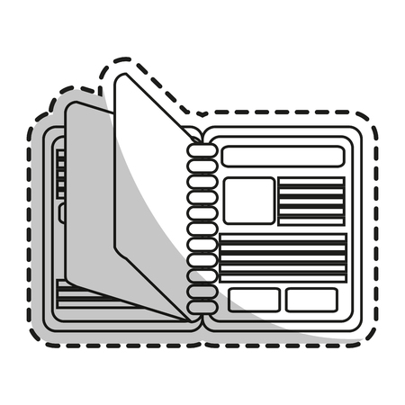 directory book: Agend icon. Notebook book directory and information theme. Isolated design. Vector illustration Illustration