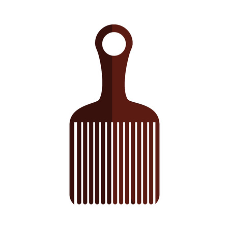 haircare: Comb icon. Hair salon supply utensil and barbershop theme. Isolated design. Vector illustration