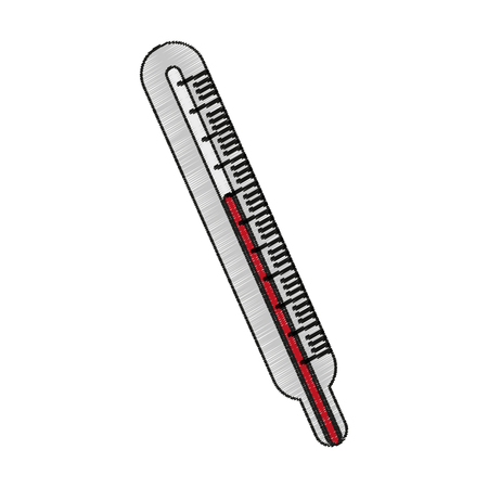 Thermometer icon. Medical health care hospital and emergency theme. Isolated design. Vector illustration